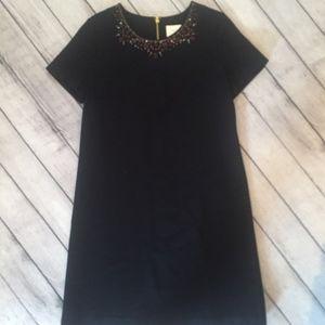 Kate Spade Women's Dress, Size 10, Black w/ Collar